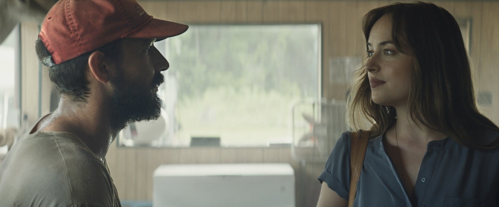 Shia labeouf and dakota johnson in the peanut butter falcon photo credit nigel bluck courtesy of roadside attractions and armory films