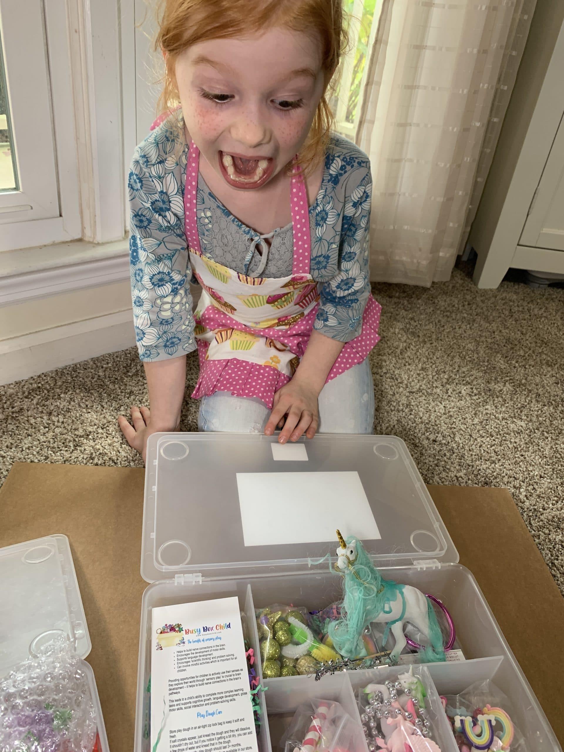 busy box child sensory play kit