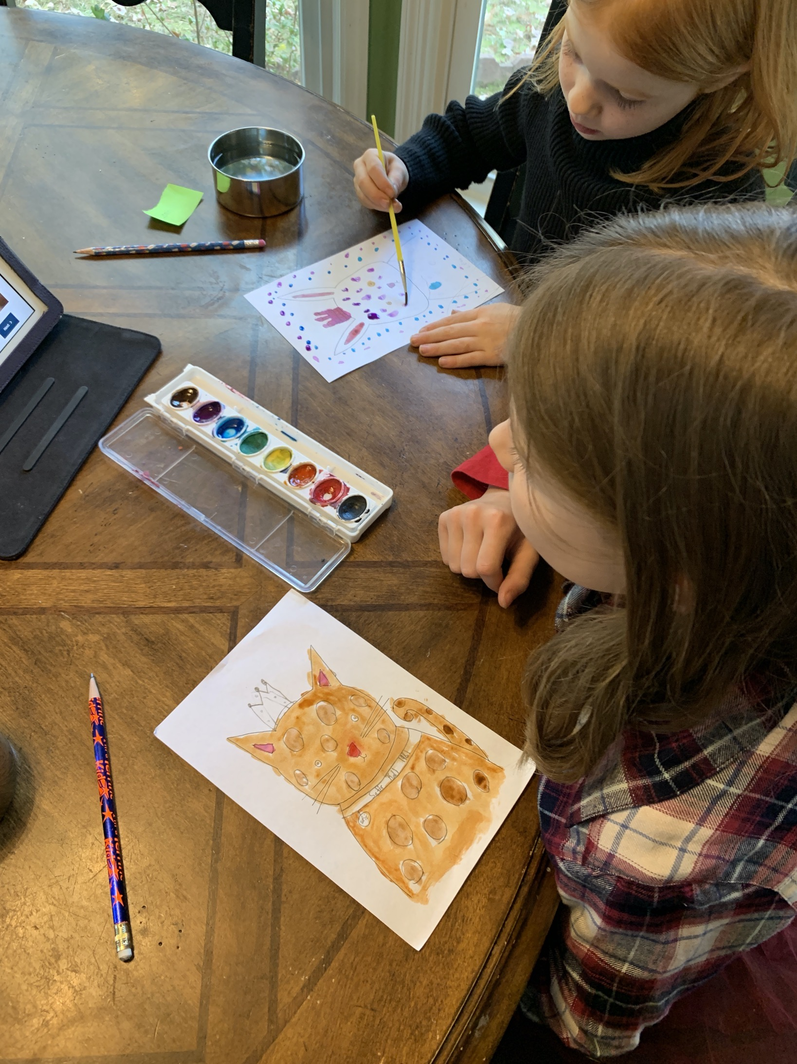 painting with watercolor for kids