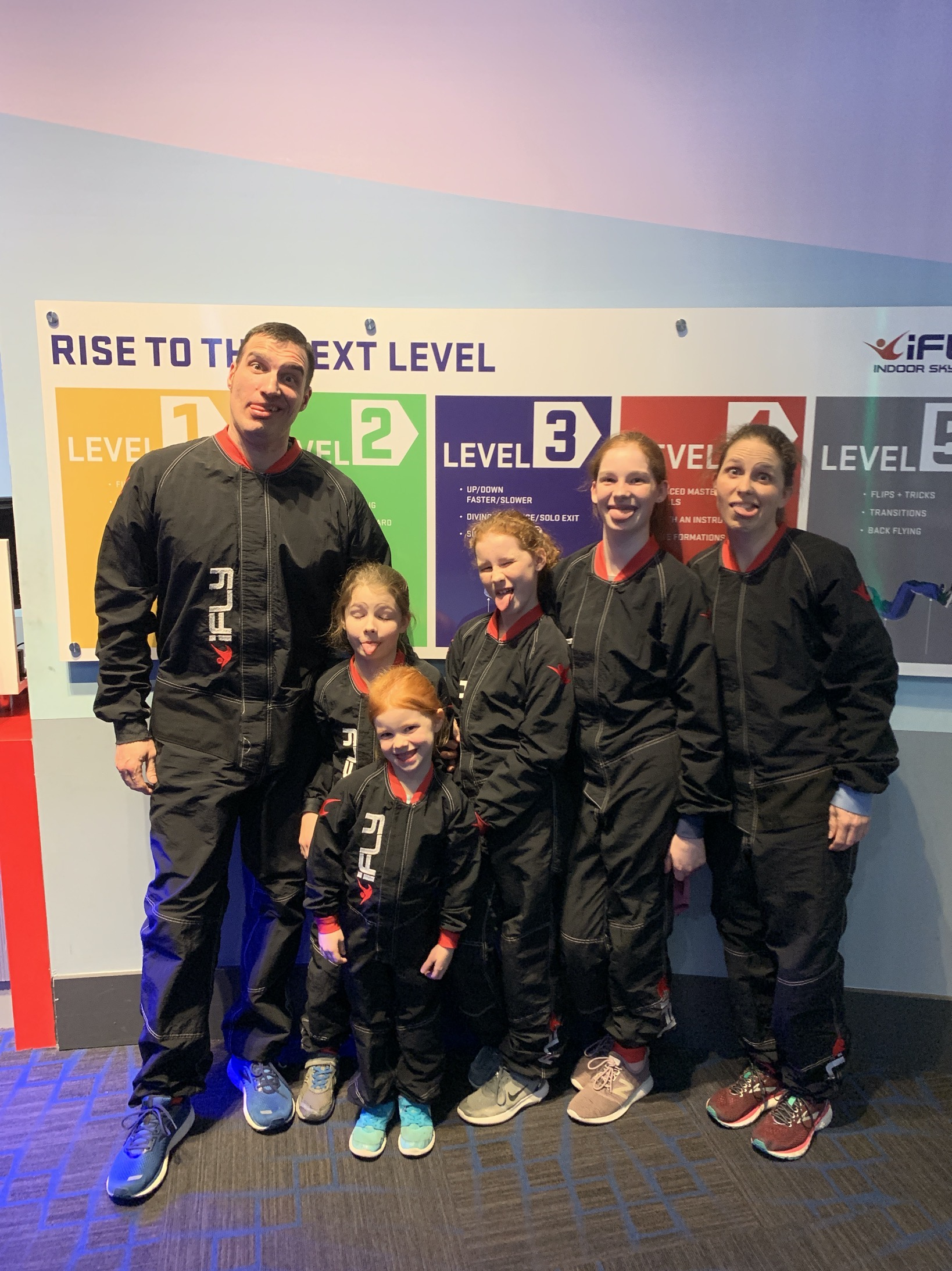 silly faces at ifly