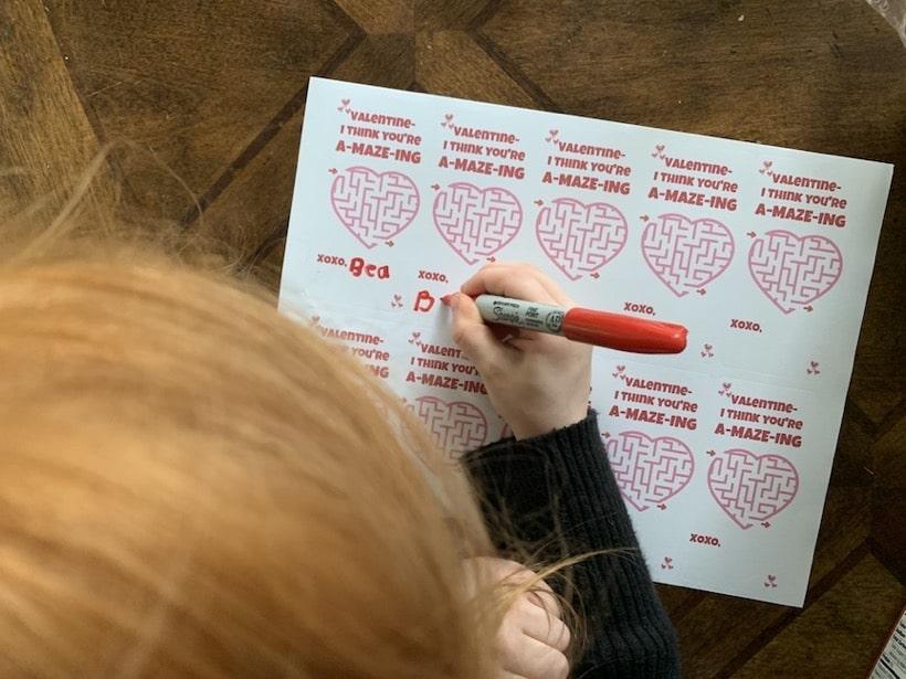 valentine you are amazing writing name
