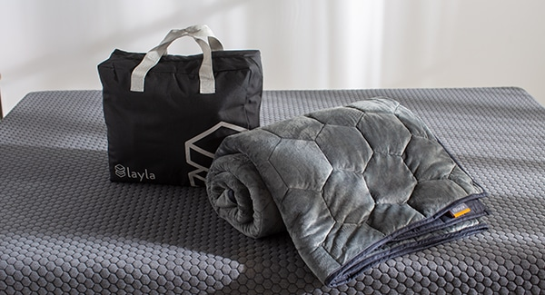 layla weighted blanket rolled