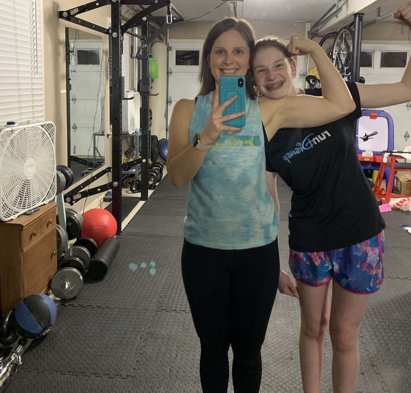 mommy and me monday in the gym with the oldest