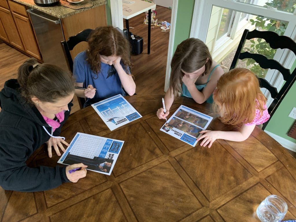 Spies in Disguise Activity Sheets at Home with Mommy and Me Monday | 527th ed