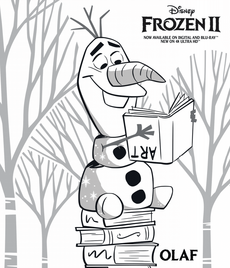 olaf coloring page frozen 2 activity sheets