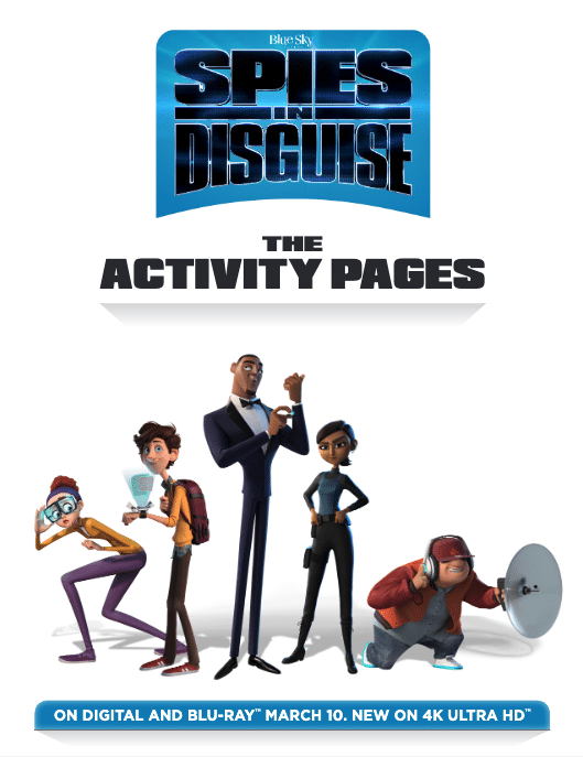 spies in disguise activity pages