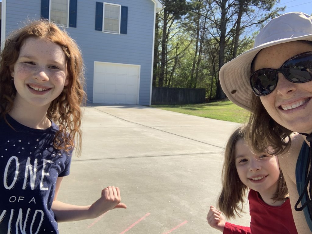 A to Z neighborhood scavenger chalk walk | Mommy and Me Monday | 530th ed
