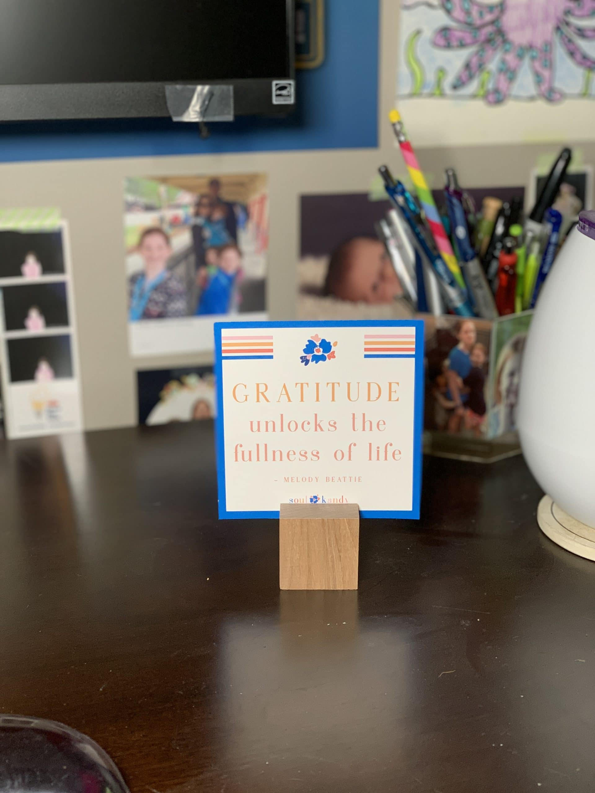 Gratitude desk sign soul kandy