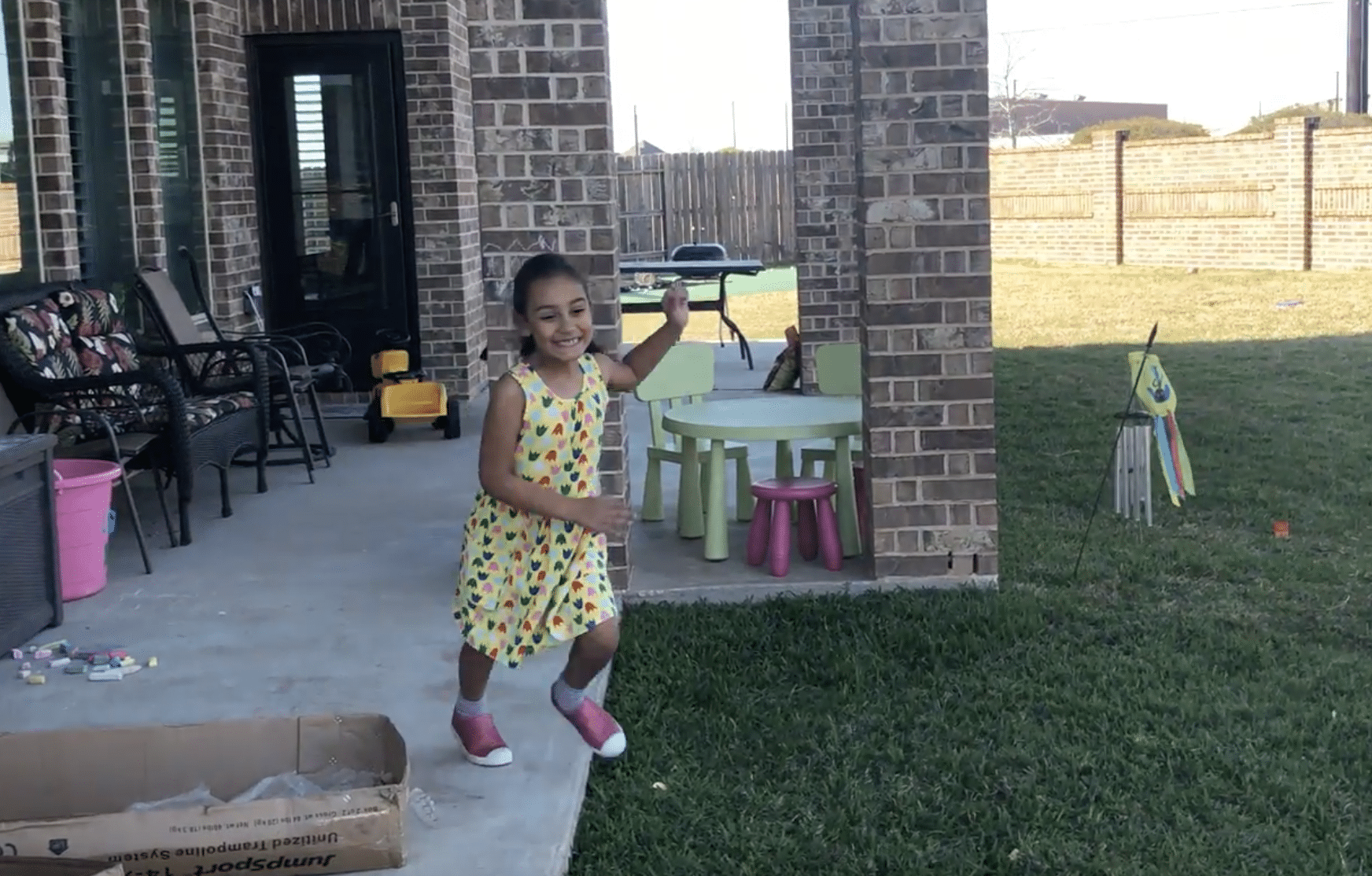 Excited to see trampoline