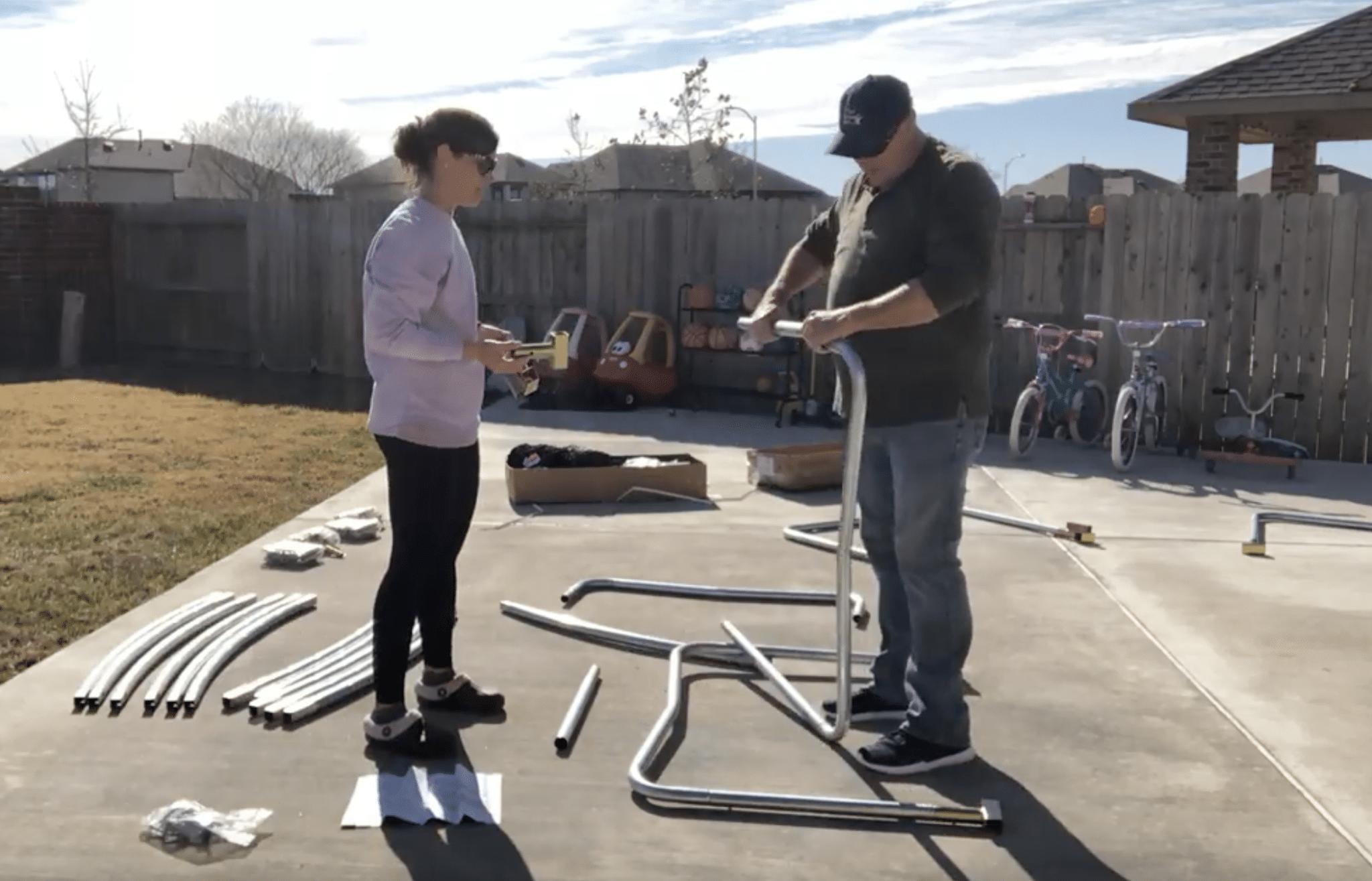 putting together jumpsport trampoline