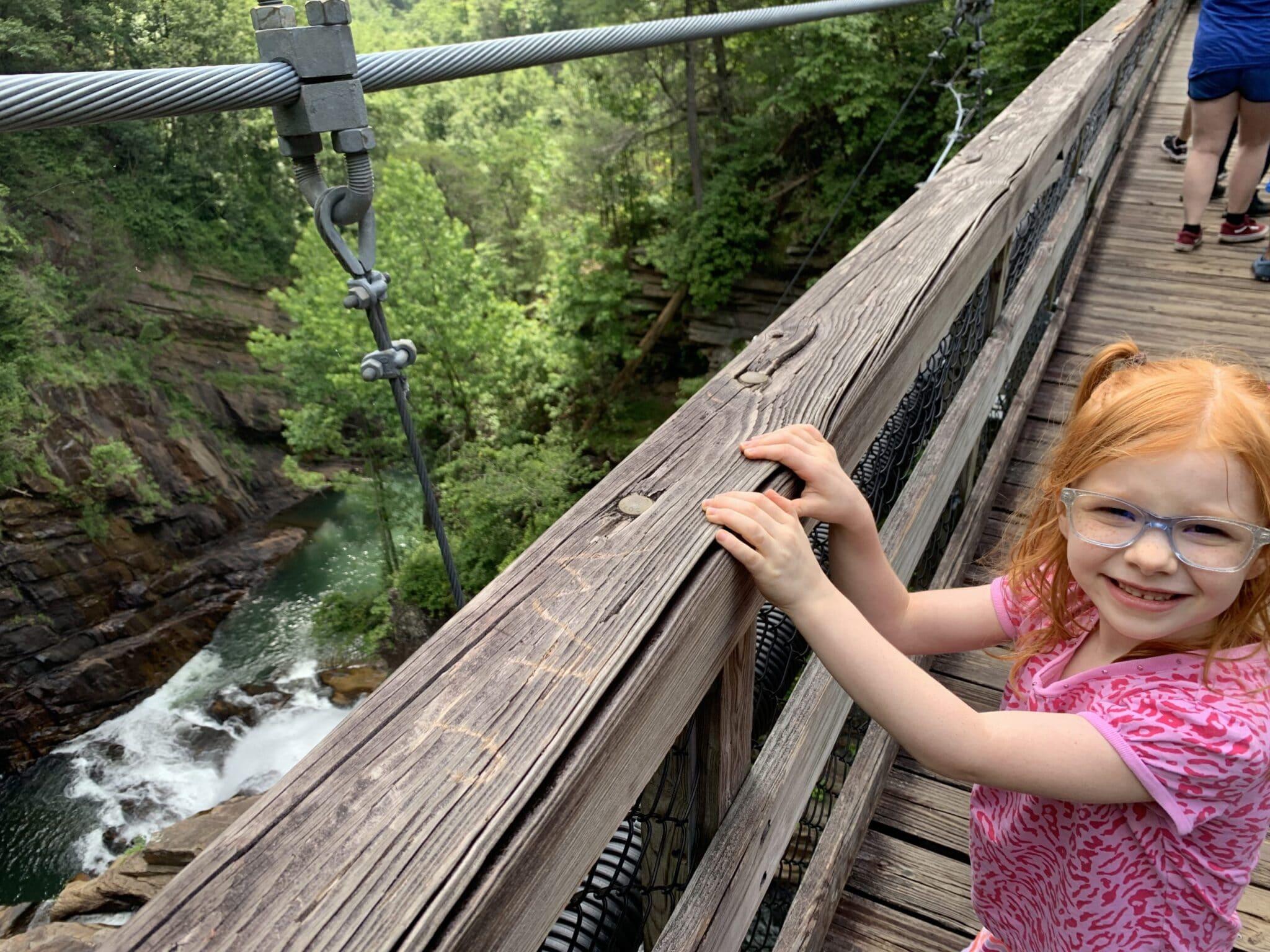 The suspension bridge at Tallulah Gorge