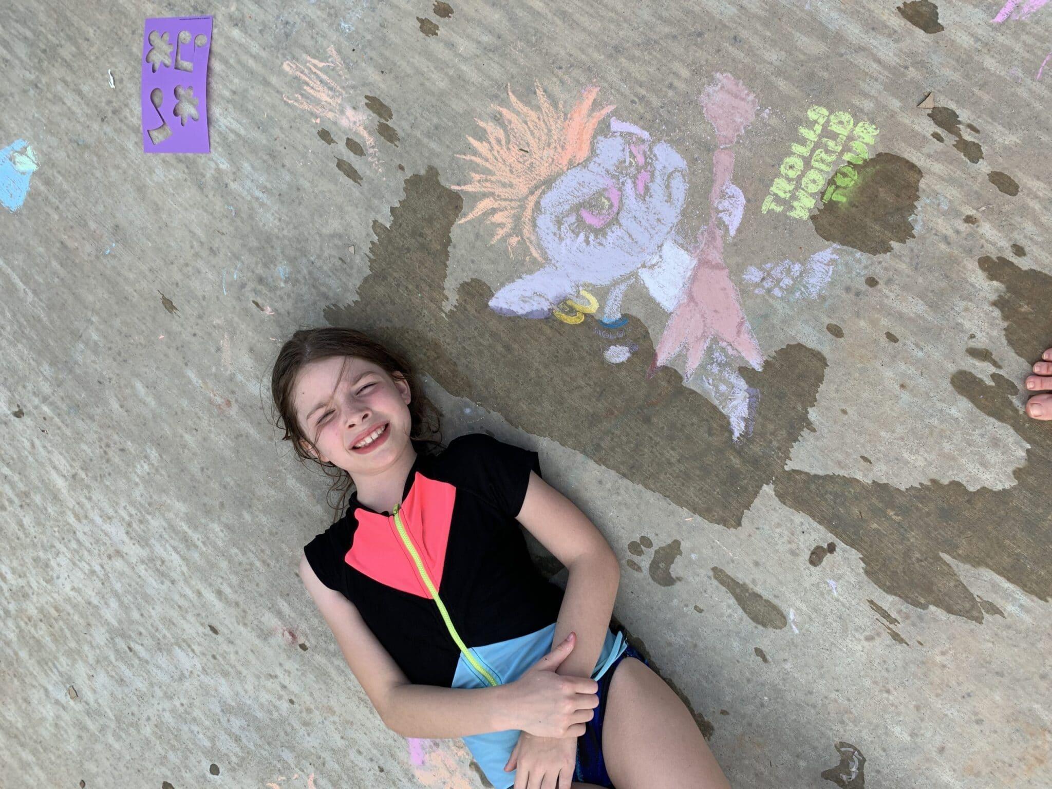 Trolls Barb Chalk Creation