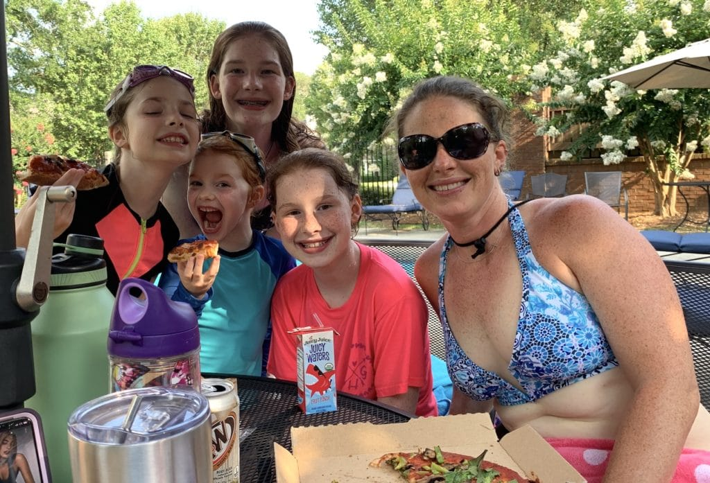 Pizza, pool and hand jives | Mommy and Me Monday | 545th