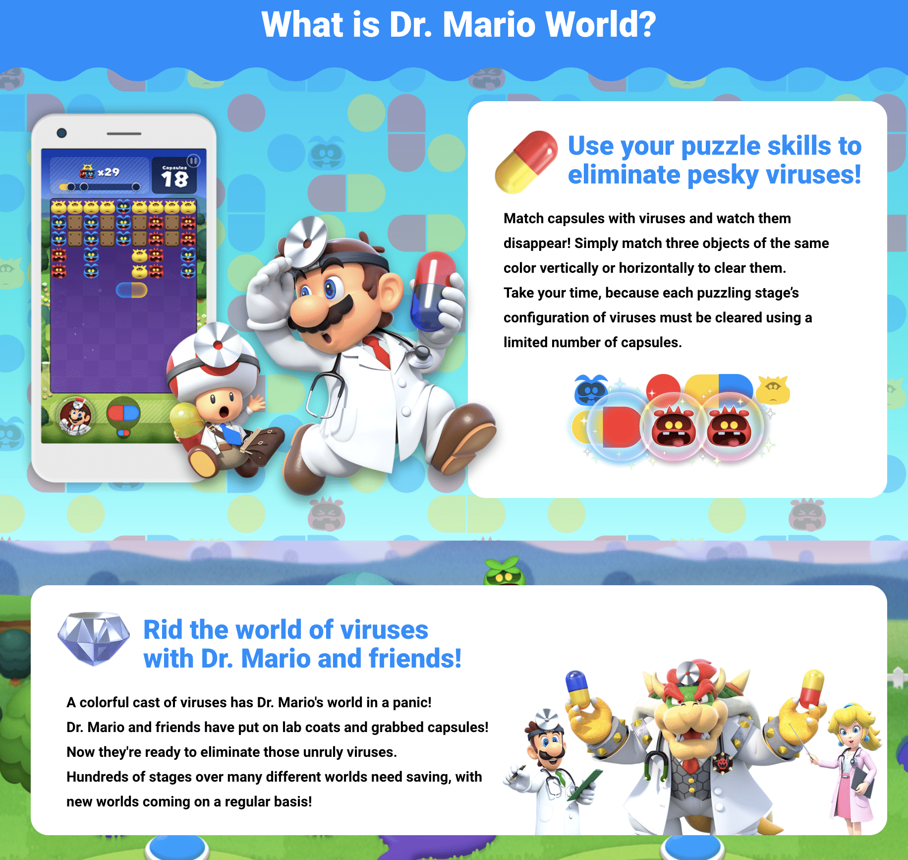 About Dr Mario World Mobile Game from Nintendo