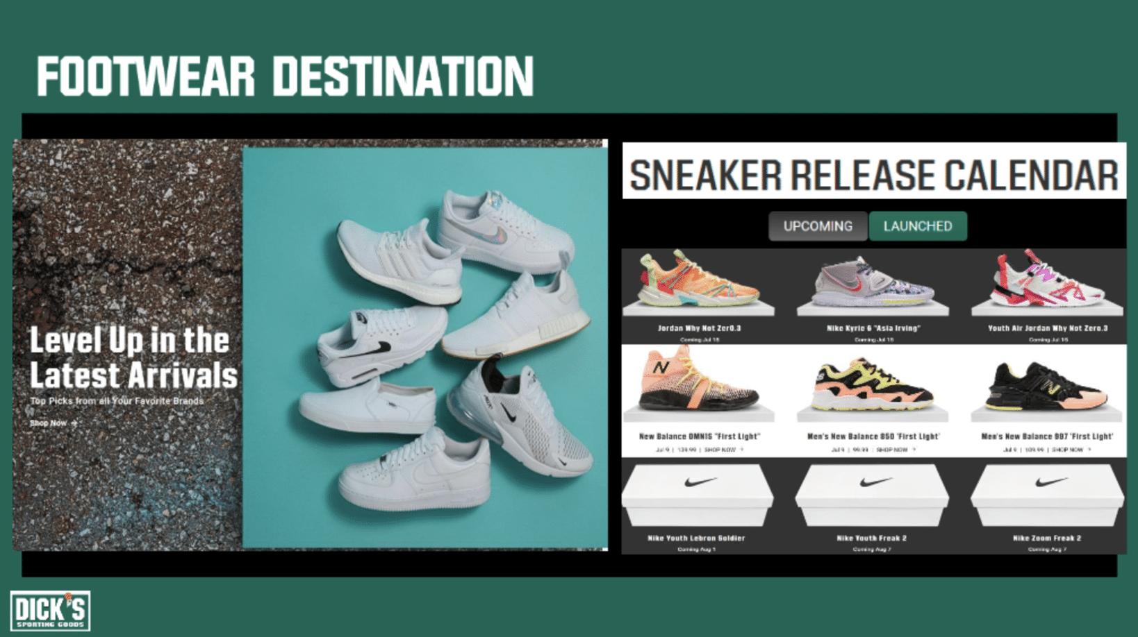 dick's sneaker release calendar