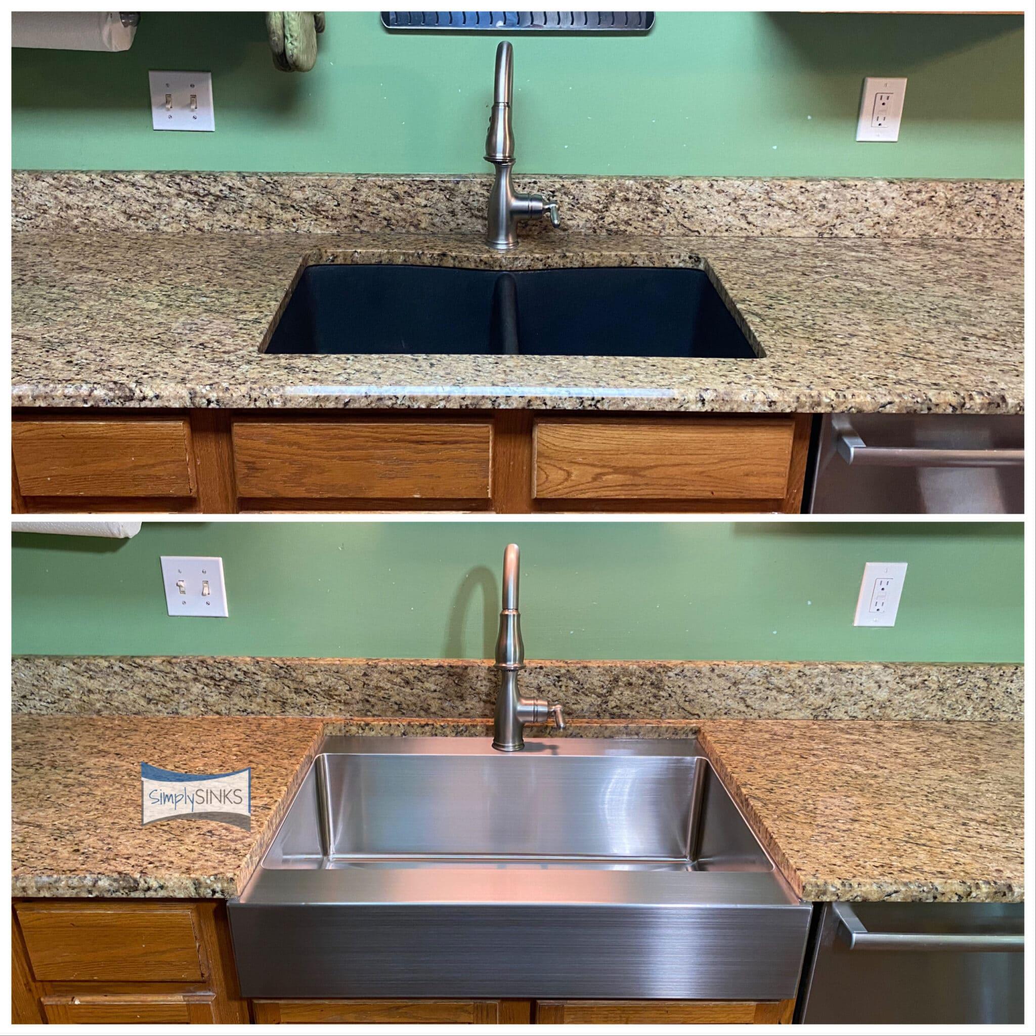 old sink versus new sink