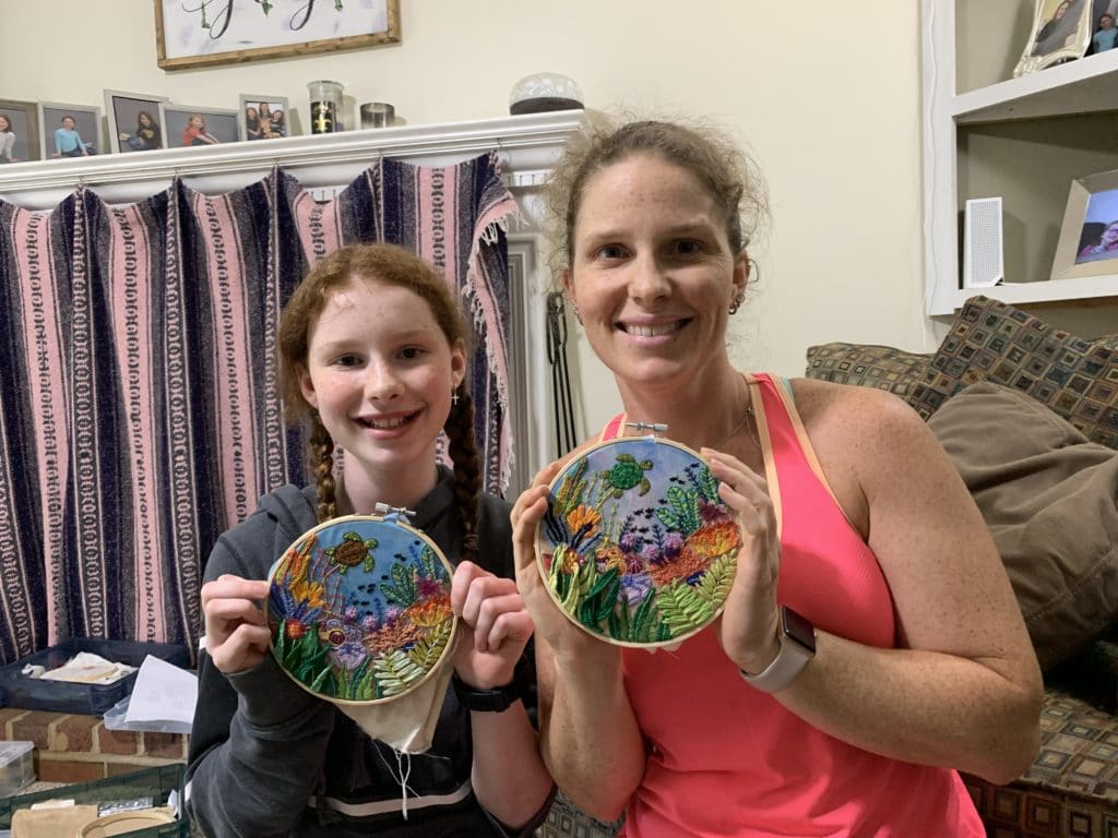 Sea-Life Stitchalong, DONE! | Mommy and Me Monday | 555th ed