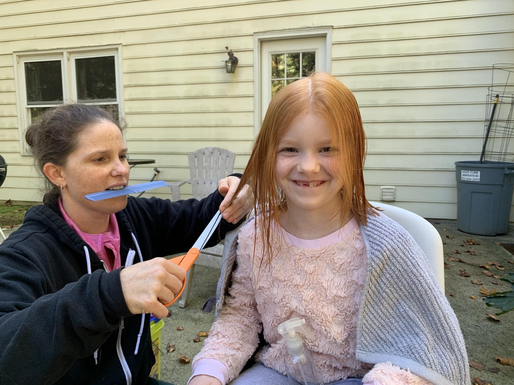 cutting b's hair