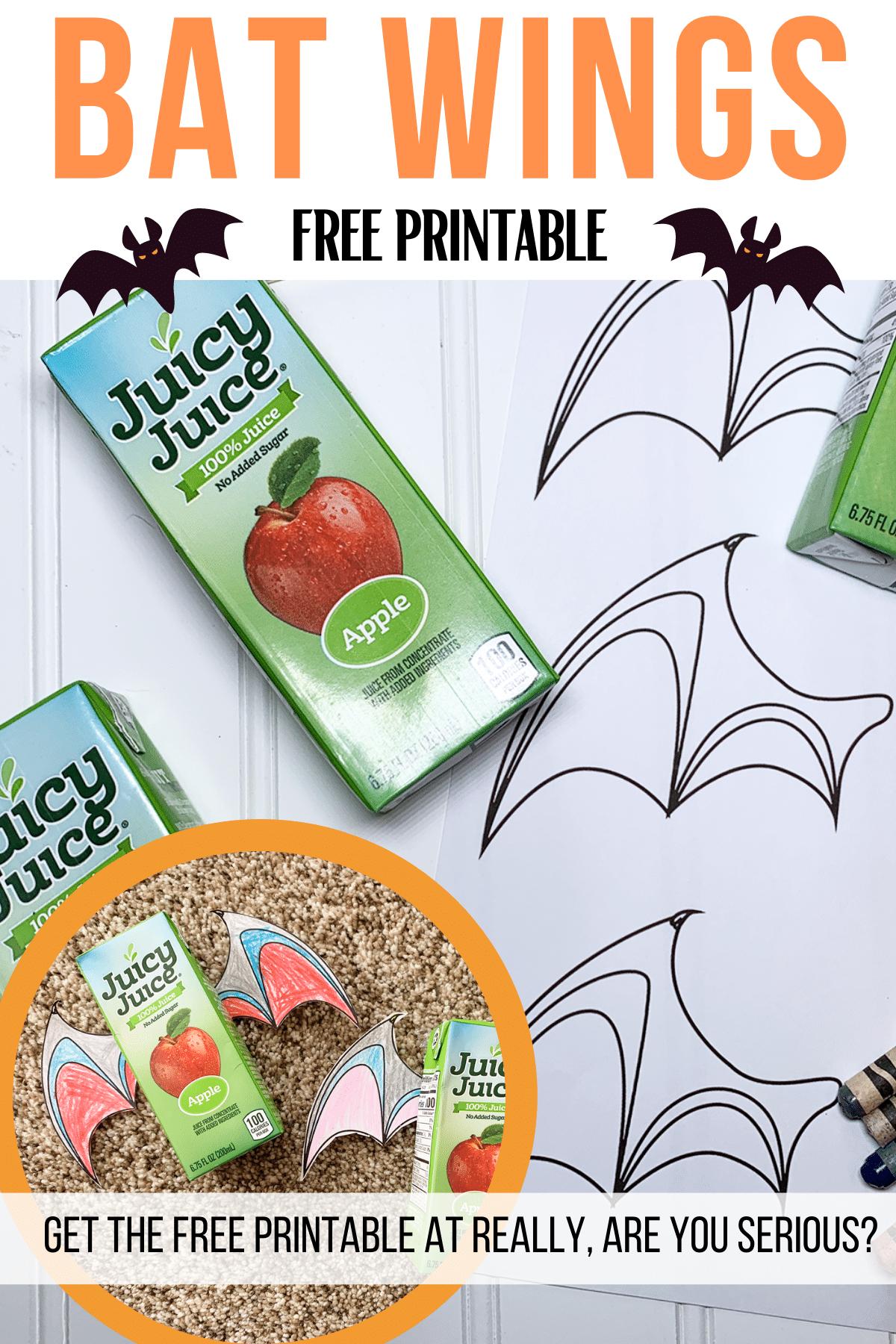 bat wings free printable coloring page