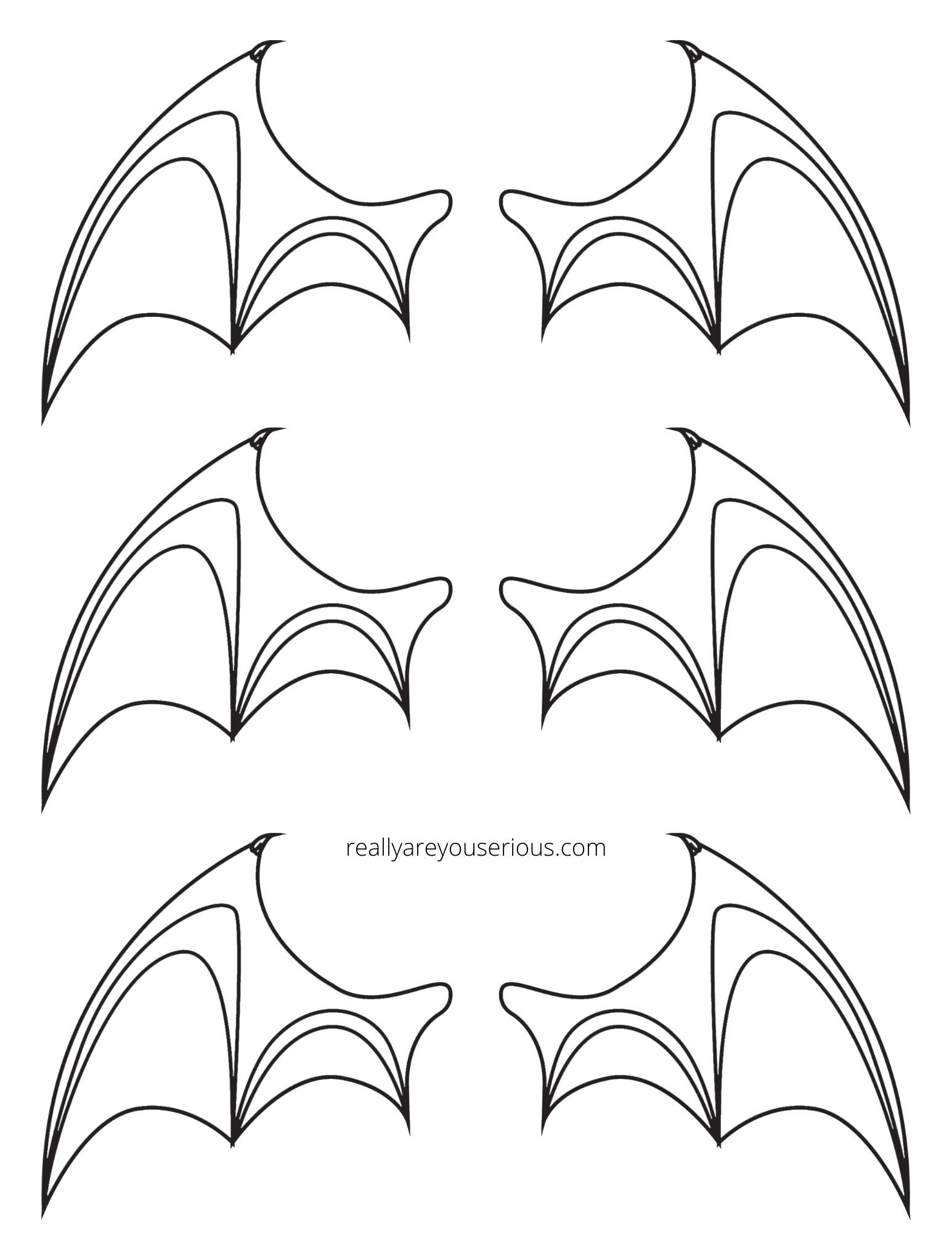 bat wings printable