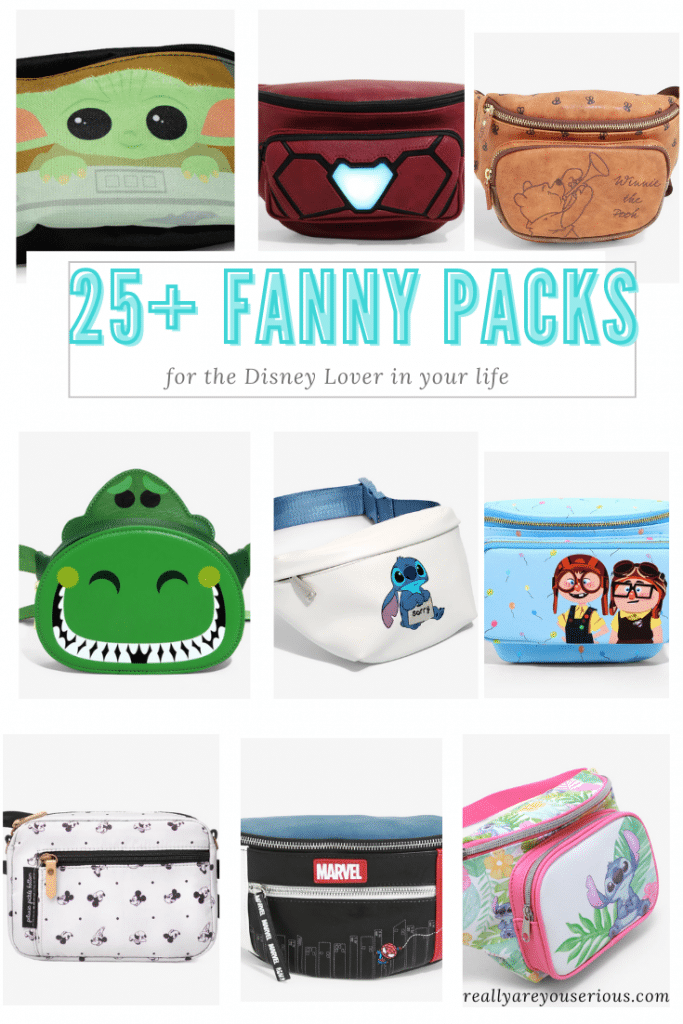 Over 25 of the best fanny packs for the Walt Disney Company (Disney, Pixar, Marvel and Star Wars) Lover