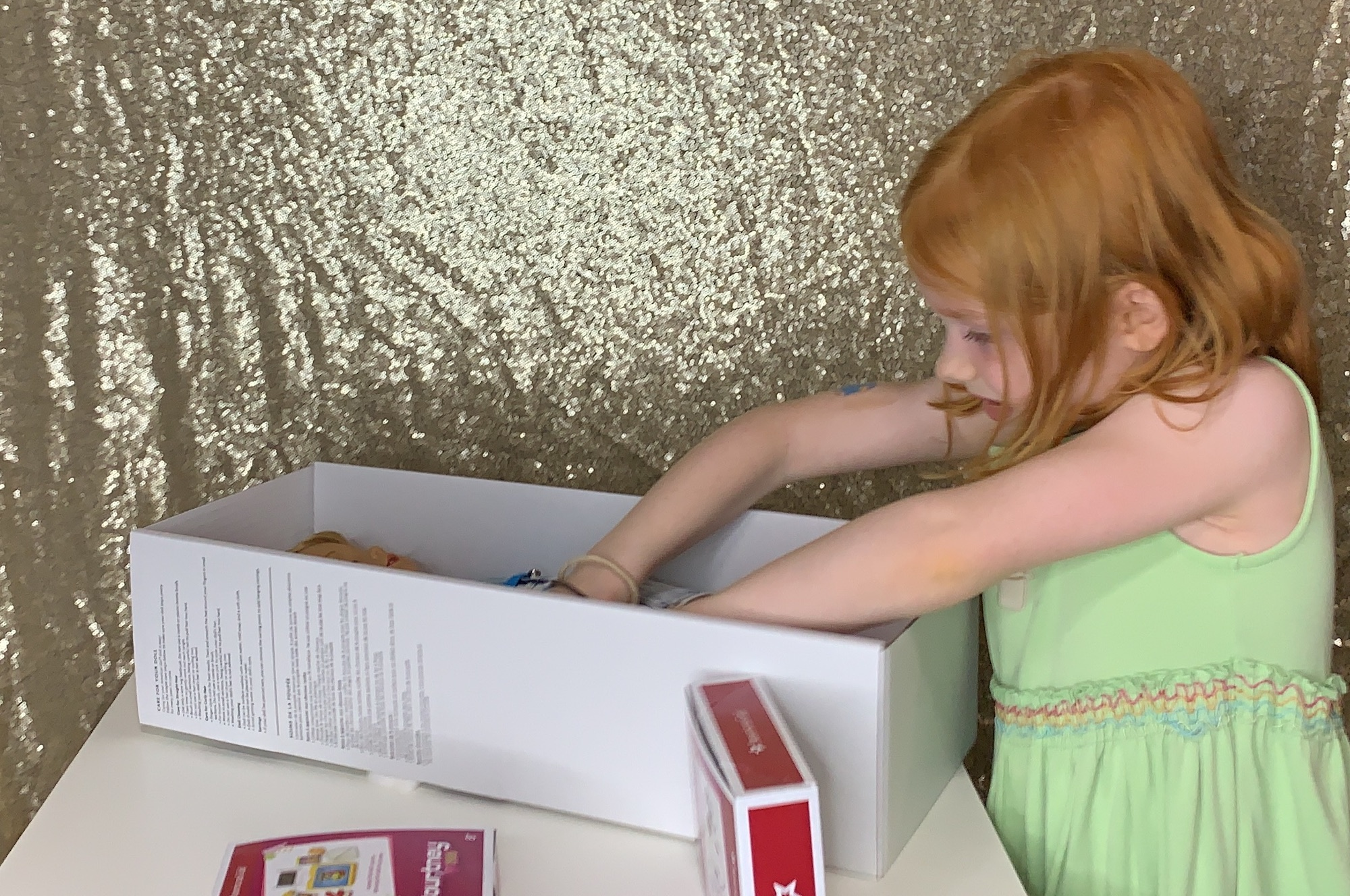 Opening american girl doll courtney