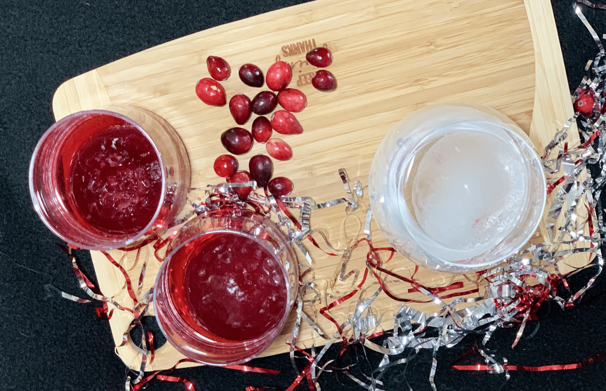 golf ball juice with tovolo ice mold for new years eve
