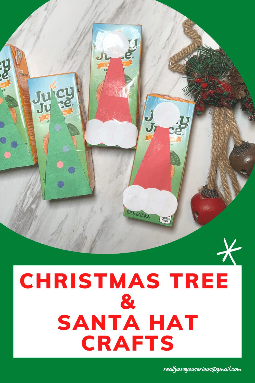 christmas tree and santa hat crafts