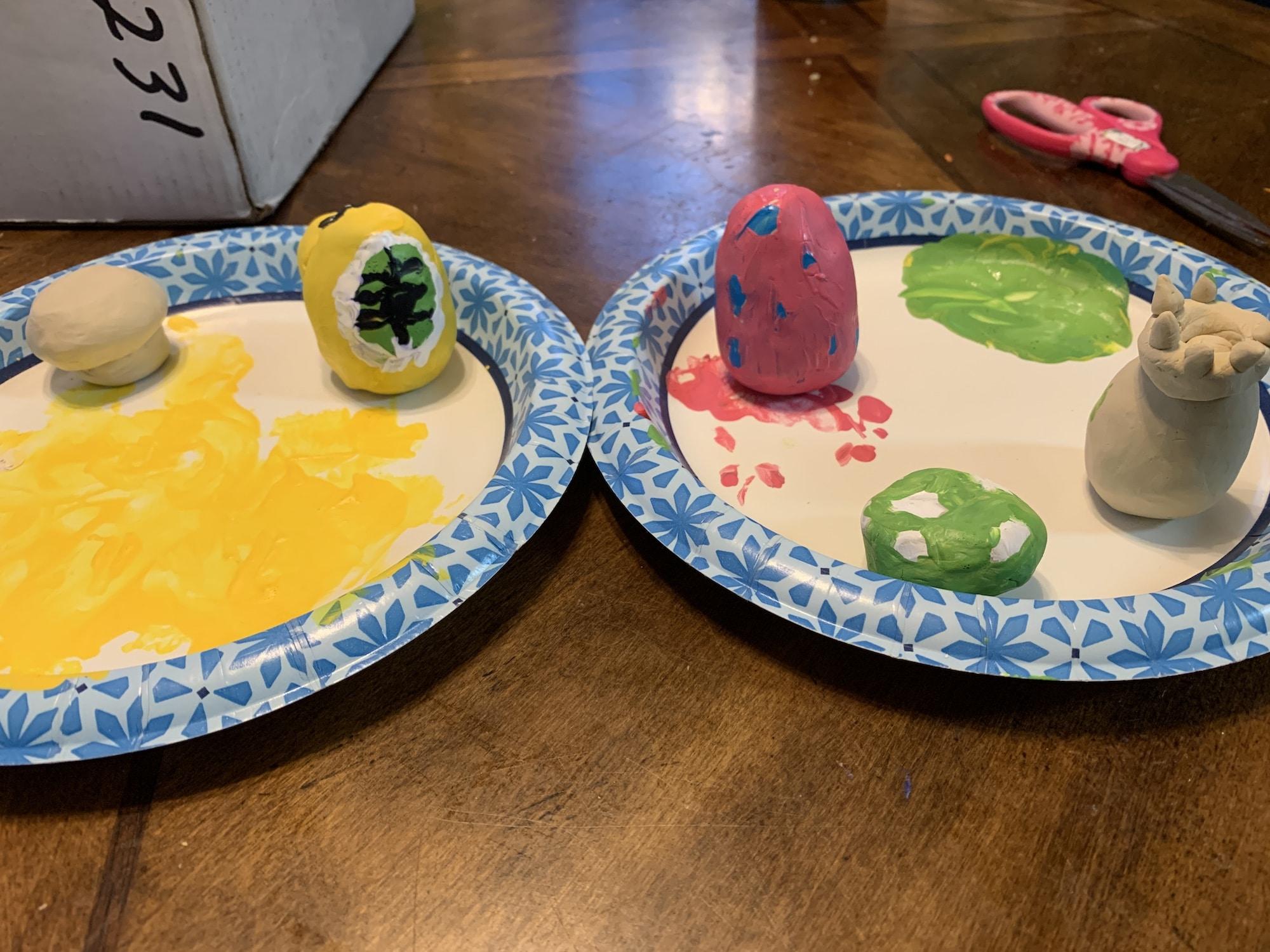 final paint job of nintendo eggs