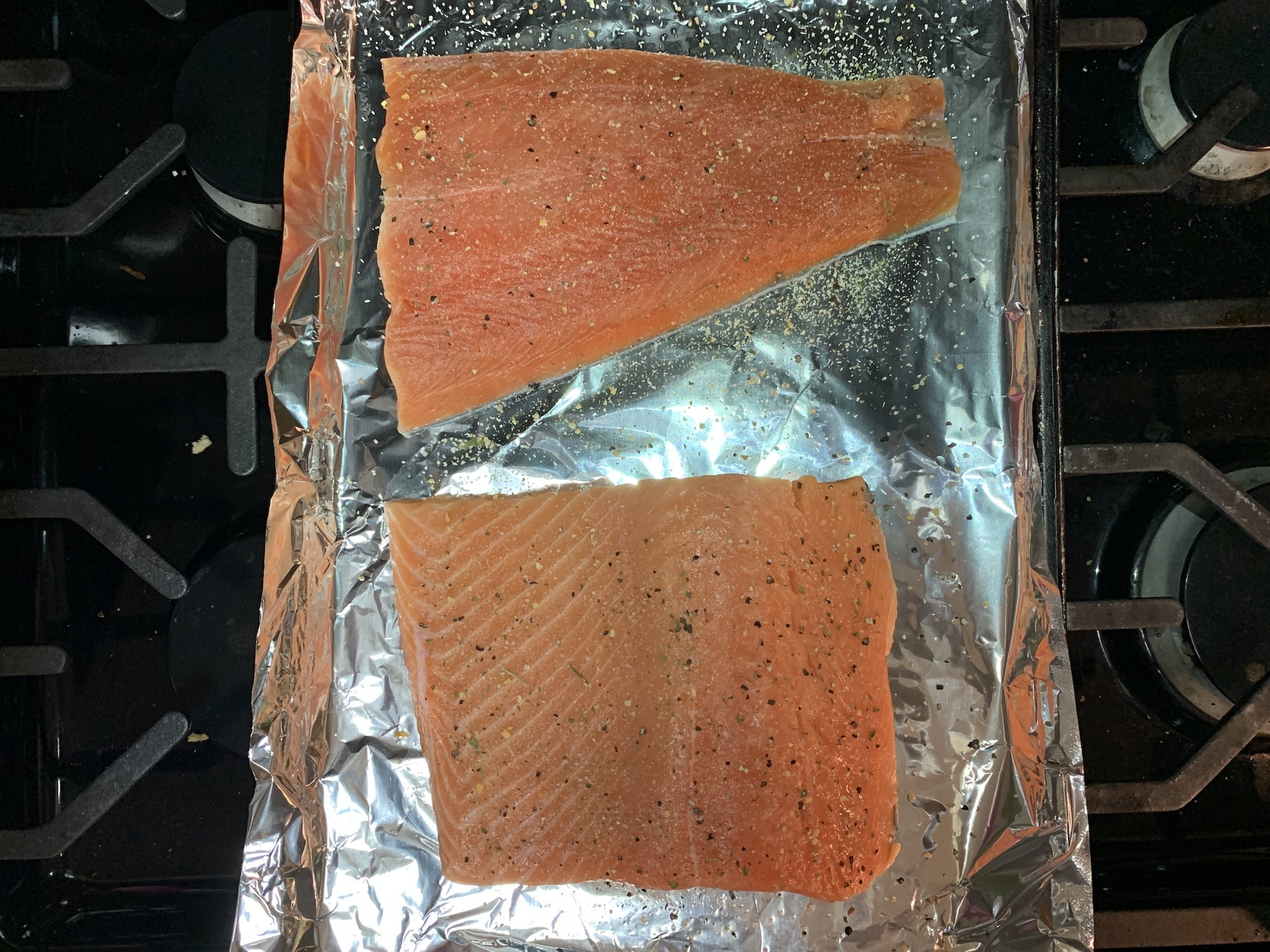salmon with garlic pepper