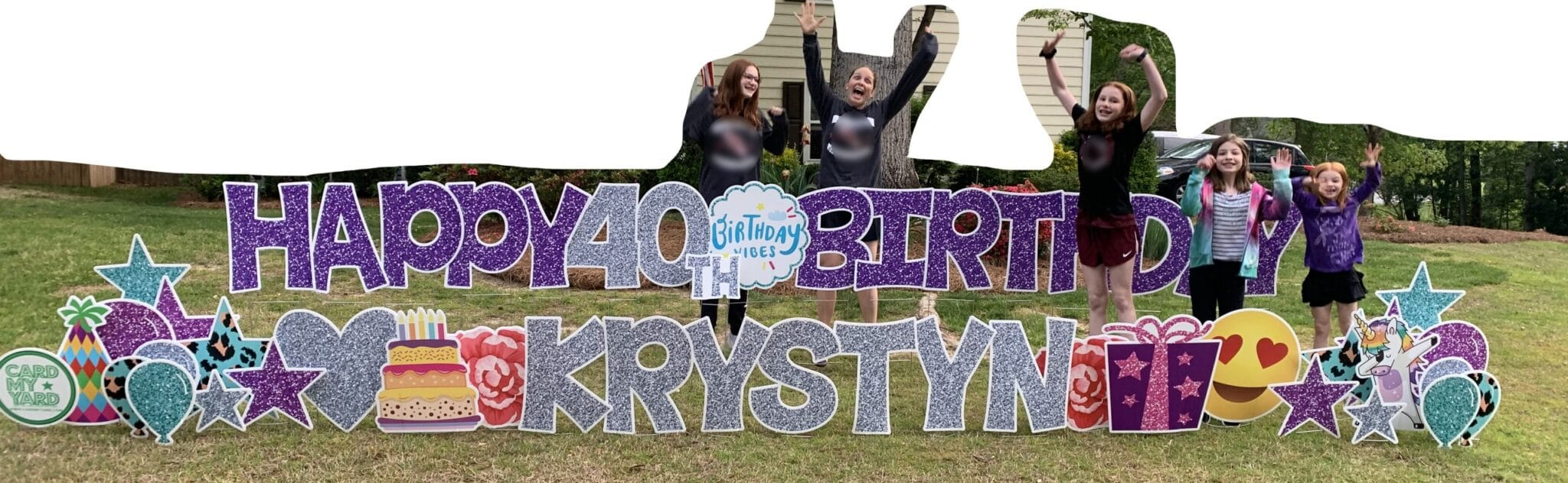 40th birthday mommy and me monday yard sign with the girls