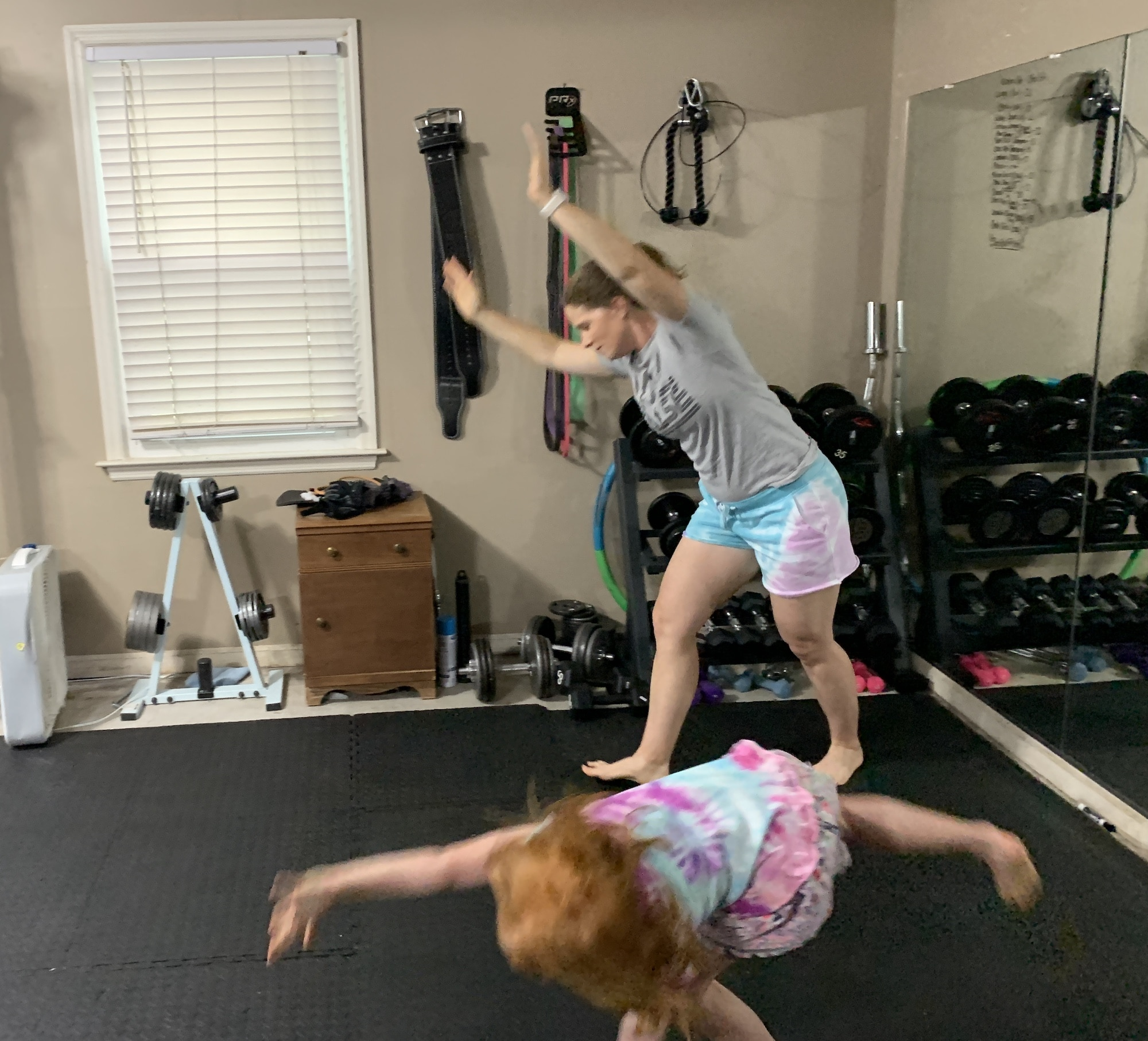 mommy and me monday starting the cartwheel