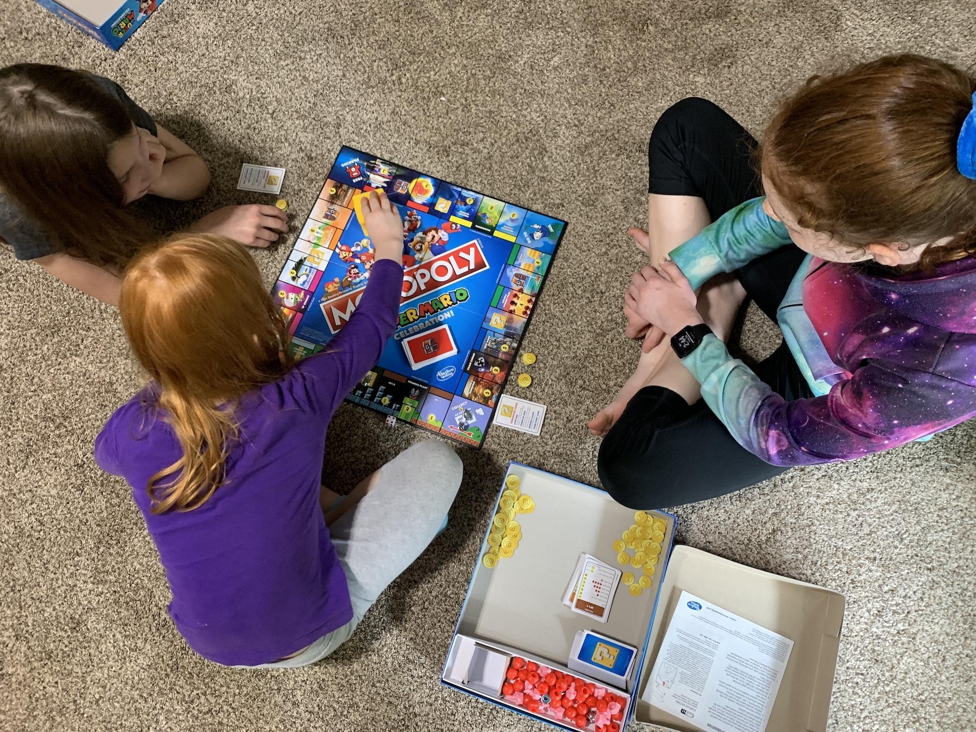 playing Monopoly Super Mario Celebration