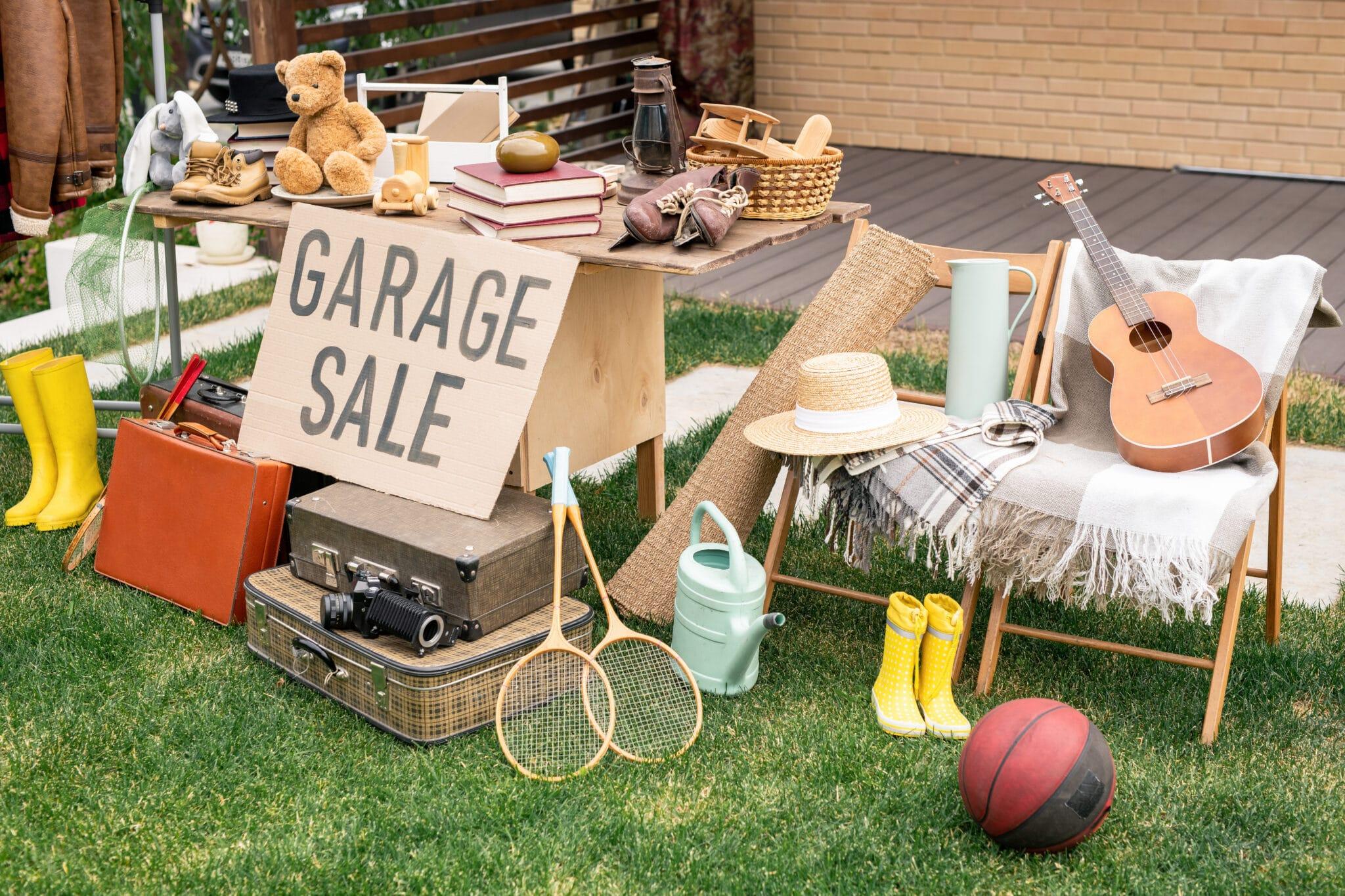 garage sale or yard sale