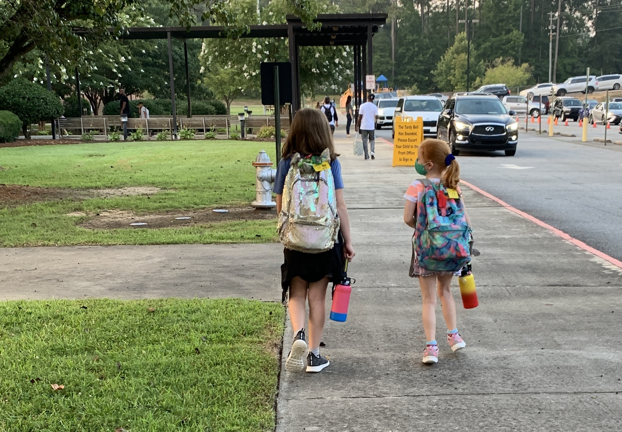 first day of school walking into school