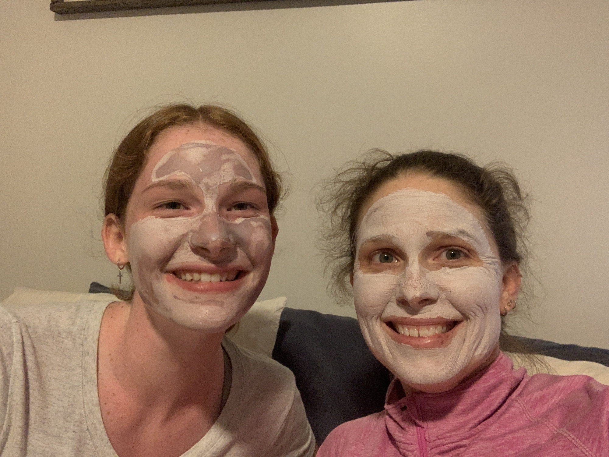 mommy and me monday smiling with face mask