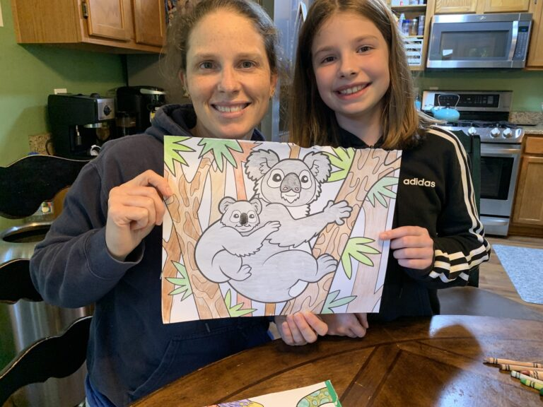 Coloring with E   Mommy and ME Monday   610th ed
