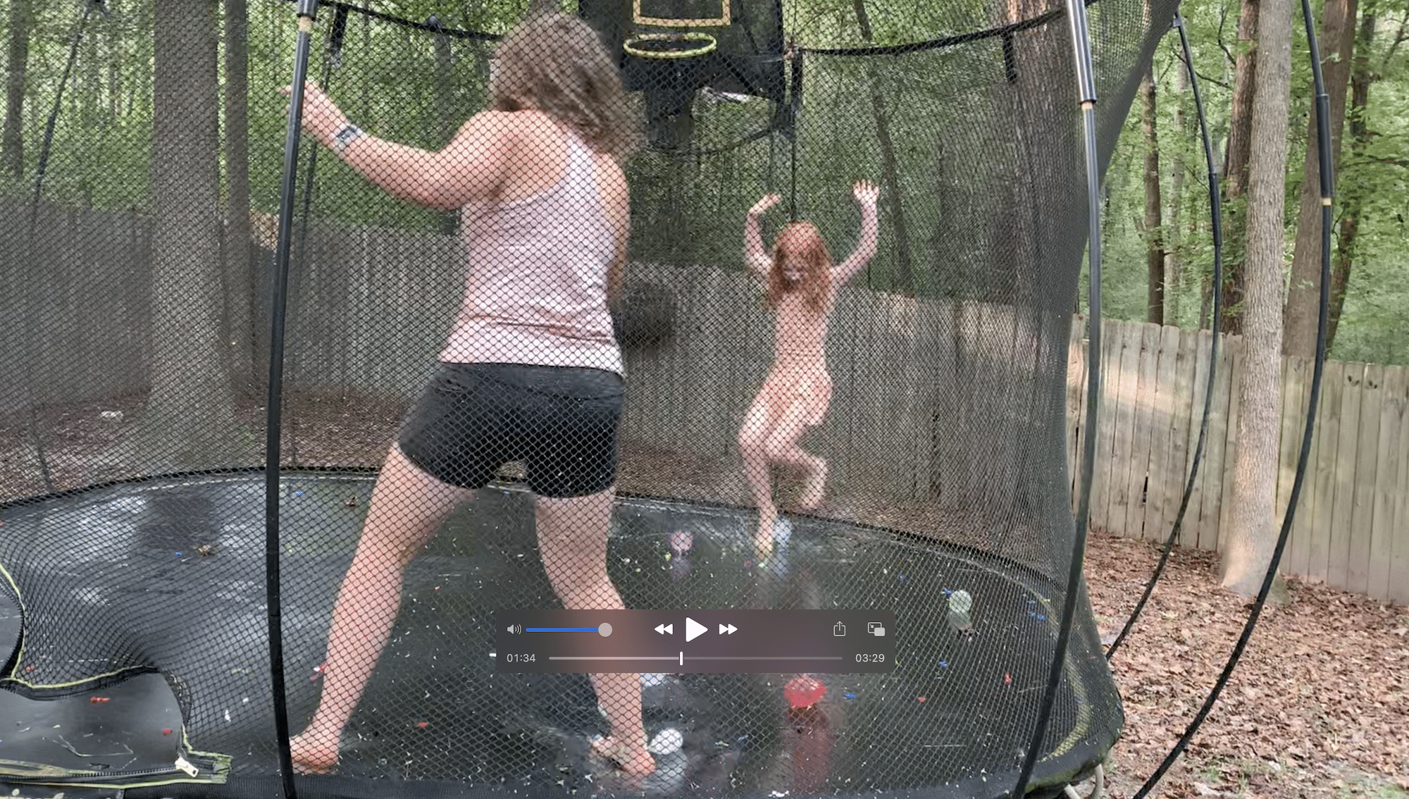 trampoline water balloon fight mommy and me monday